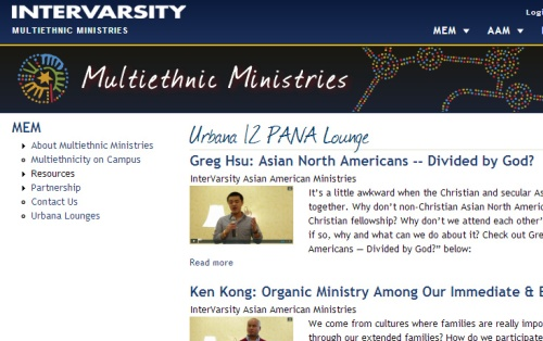 InterVarsity Asian Ministries features my talk & many others!